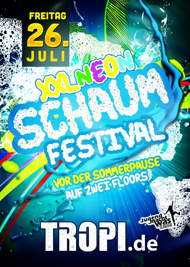 Schaumfestival für alle Jugendlichen von Albtadt